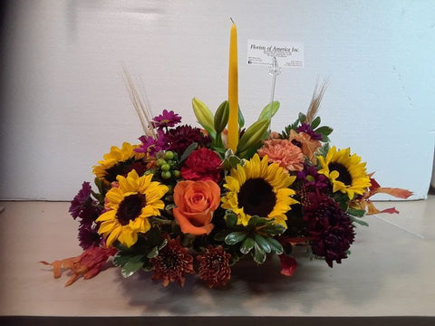 Fall Splendor Sunflower Centerpieces