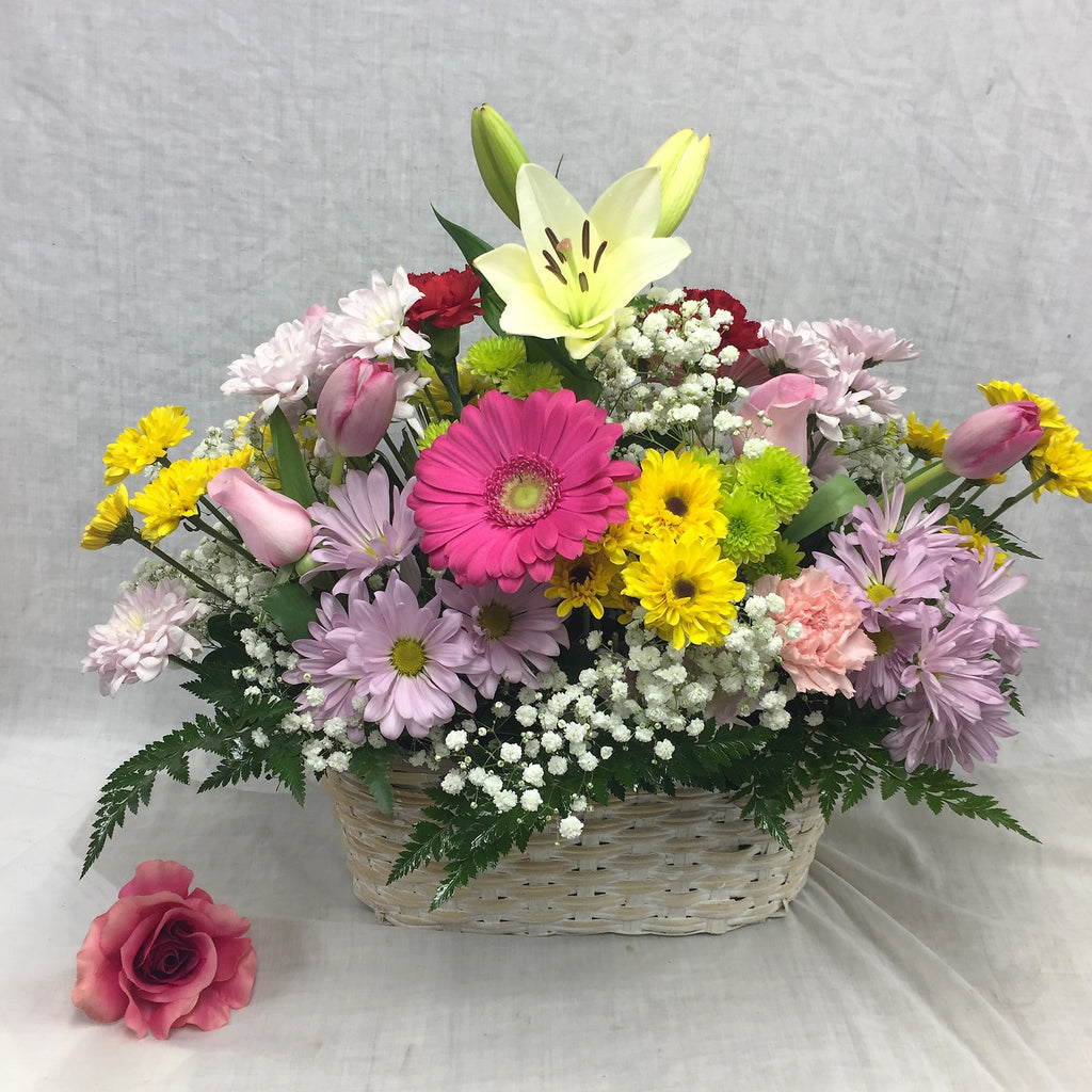 Spring time floral basket