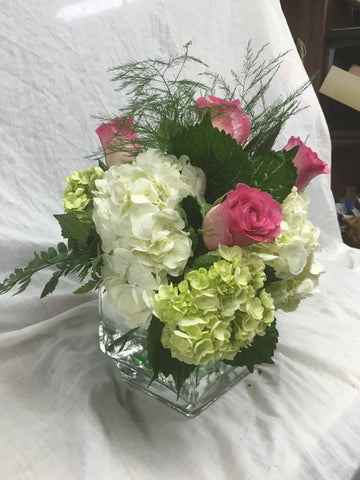 Contemporary Hydrangea Arrangement
