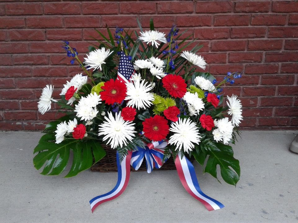 RED, WHITE, AND BLUE LONG BASKET