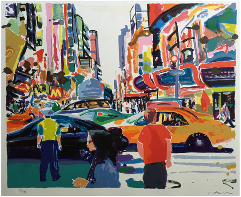 Tom Christopher (American, b. 1952), New York City, screenprint, signed, ed. 49