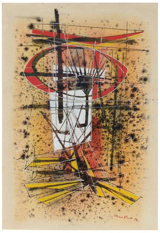 Jimmy Ernst (American/German, 1920-1984), Untitled, 1952, watercolor on paper, signed and dated