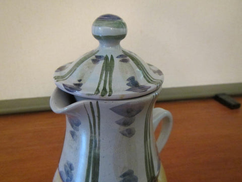 Danish Earthenware Figural Coffee Pot, Bjørn Wiinblad (1918-2006), 1958, signed
