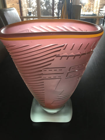 Dan Dailey (American, b. 1947), Art Glass Vase, 1980, signed