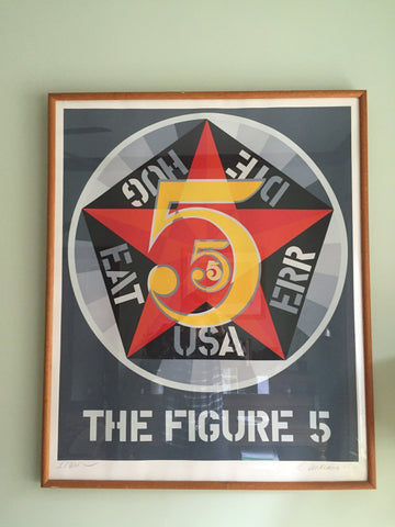 "Robert Indiana (American, b. 1928), ""The Figure 5"", from Decade, 1971, color screenprint on wove paper, ed. 200 (Sheehan 66)"