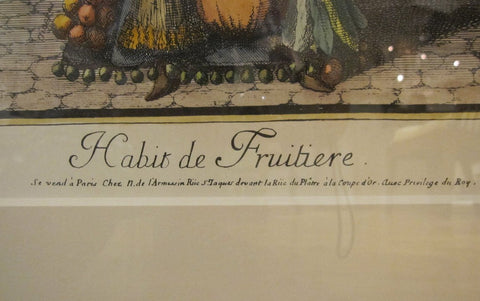 After Nicolas de Larmessin II (French, ca. 1638-1694), Habit de Fruitière, engraving