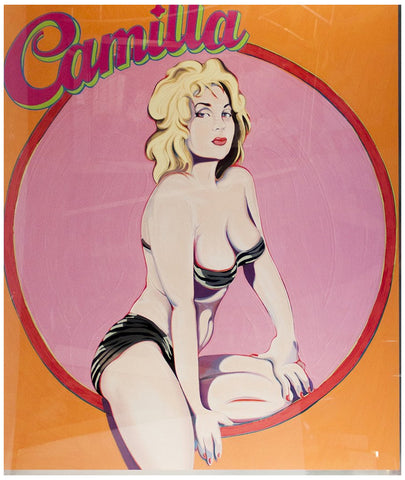 "Mel Ramos (American, b. 1935), ""Camilla"", 1989, screenprint, signed"