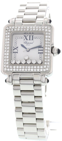 Ladies Chopard Happy Sport Stainless Steel and Diamond Watch, ref. 27/8349