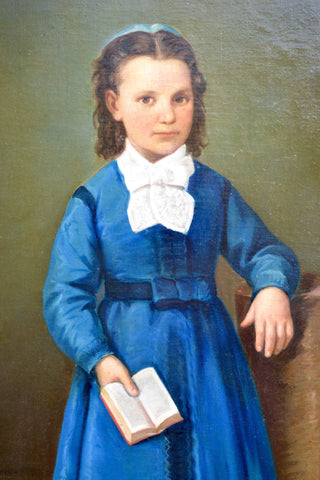 British School (19th Century), Portrait of Mary Harriet Edwards, oil on canvas