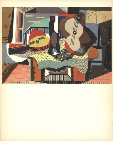 "After Pablo Picasso (Spanish, 1881-1973), ""Mandolin and Guitar"", 1958, lithograph, unsigned"