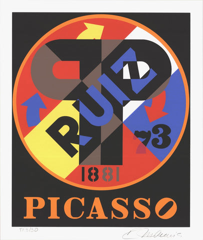 Robert Indiana (American, b. 1928), Picasso, 1997, screenprint, signed