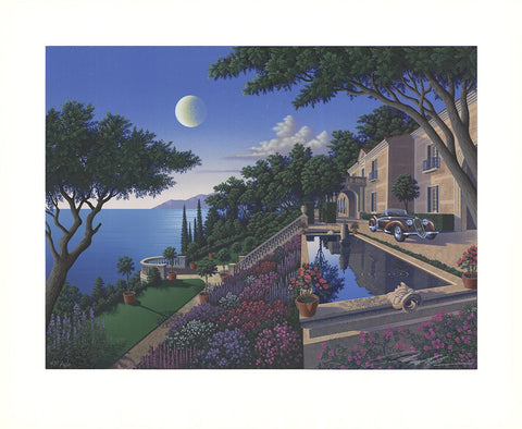 "Jim Buckels (American, contemporary), ""Villa Capulet"", screenprint, signed, ed. 300"