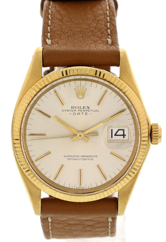 Men's Rolex Vintage 18K Yellow Gold Oyster Perpetual Date, ca. 1969, ref. 1503