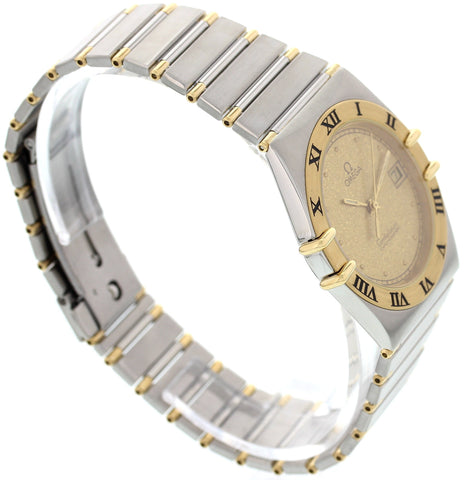 Men's Omega Constellation 18K Yellow Gold and Stainless Steel Watch 198.0143