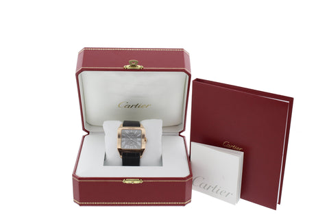 Men's Cartier 18K Rose Gold Santos-Dumont Power Reserve Watch, ref. 3596 / W2020068