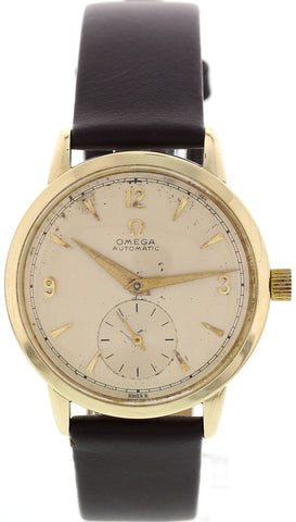 Men's Vintage Omega 14K Yellow Gold Automatic Watch
