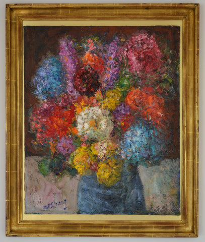 "Michael Strang, (British, b. 1942), ""Gulval Bouquet, Summer"", ca. 1990, oil on canvas, signed"