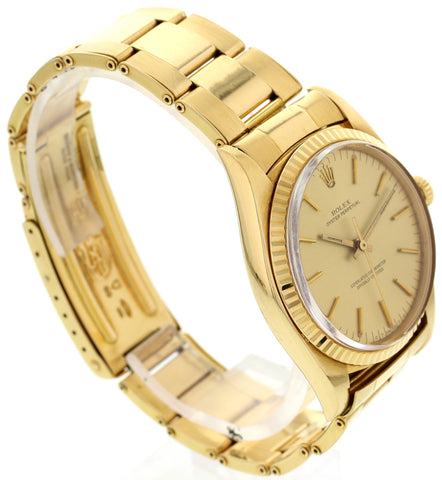 Men's Vintage Rolex 18K Yellow Gold Oyster Perpetual Watch, ref. 1013