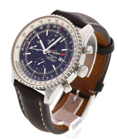Men's Breitling Navitimer World GMT Stainless Steel Chronograph, ref.  A24322