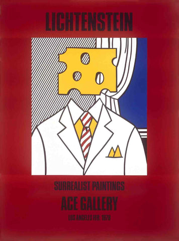 After Roy Lichtenstein (American, 1923-1997), Surrealist Paintings at Ace Gallery (Cheese Head), 1978, offset lithograph