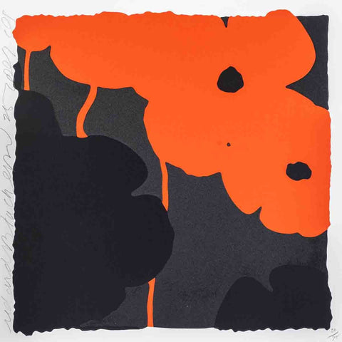Donald Sultan (American, b. 1951), Red & Black Poppies II, 2007, screenprint, signed, ed. 75