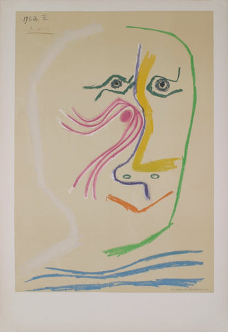 Pablo Picasso (Spanish, 1881-1973), Hommage a Rene Char, avant lettre, 1969, lithograph