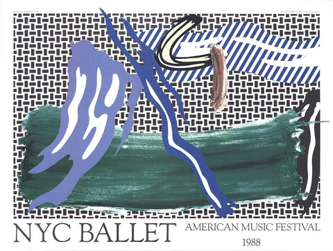 Roy Lichtenstein (American, 1923-1997), NYC Ballet: American Music Festival poster, 1988, offset lithograph
