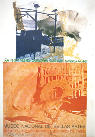 Robert Rauschenberg (American, 1925-2008), ROCI: Chile, 1985, offset lithograph, signed