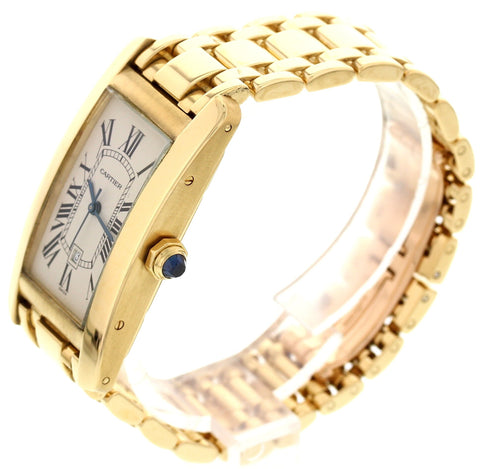 Cartier 18K Yellow Gold Tank Américaine Automatic, ref. 1725