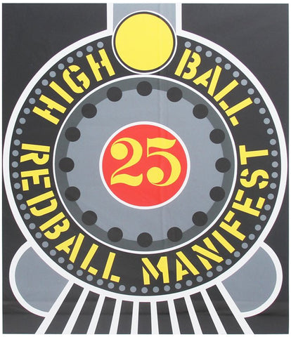 Robert Indiana (American, b. 1928), Highball on the Redball Manifest, 1997, screenprint, signed, ed. 395