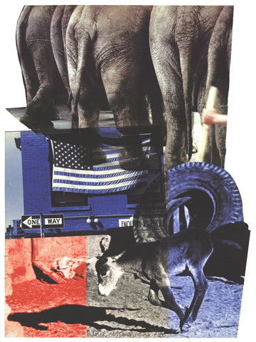 "Robert Rauschenberg (American, 1925-2008), ""Hillary Rodham Clinton Campaign Print"", 2000, pigmented inkjet print, signed, ed. 100"