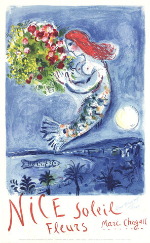 After Marc Chagall (Belorussian/French, 1887-1985), Bay of Angels (La Baie Des Anges), 1962, lithograph in colors