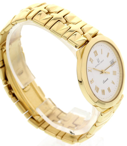 Unisex Universal Geneve Quartz 18K Yellow Gold Watch