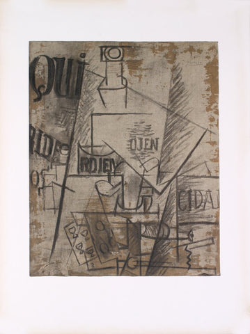 After Pablo Picasso (Spanish, 1881-1973), Papiers Colles, 1966,  lithograph, ed. 300