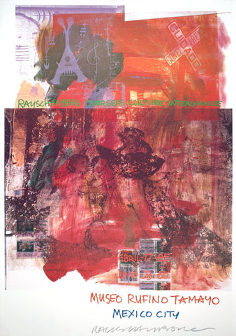 Robert Rauschenberg (American, 1925-2008), ROCI: Mexico, Museo Rufino Tamayo, Mexico City, 1985, offset lithograph, ed. 25