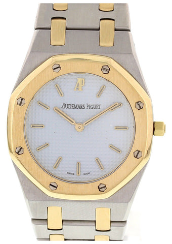 Midsize Audemars Piguet Royal Oak 18K Yellow Gold and Stainless Steel Quartz Watch