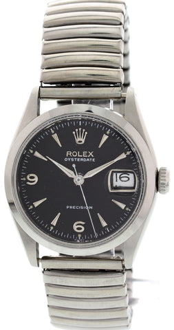Men's Rolex OysterDate Precision Stainless Steel Watch 6294