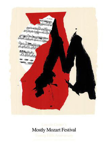 Robert Motherwell (American, 1915-1991), Mostly Mozart Festival Lincoln Center, 1991, screenprint on paper