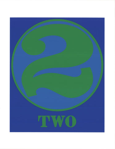 Robert Indiana (American, b. 1928), Two, 1997, screenprint, ed. 395