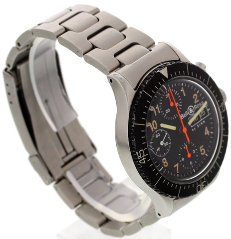 Men's Bell & Ross by Sinn, Germany, Chronograph Stainless Steel Watch 256.1465