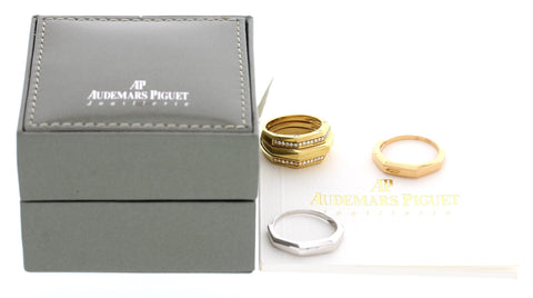 Ladies Audemars Piguet Interchangeable 18K Tri-Color Gold and Diamond Ring