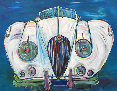 "David Harper (British, b. 1967), ""Jag XK140"", 2016, acrylic on canvas, signed"