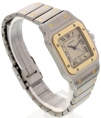 Cartier Santos Galbee 18K Yellow Gold and Stainless Steel Watch 187901