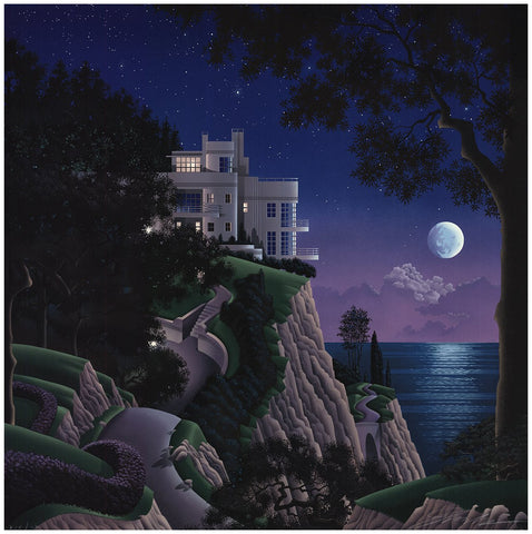 "Jim Buckels (American, contemporary), ""Druid Point"", screenprint, signed, ed. 60"