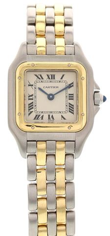 Ladies Cartier Panthere 18K Yellow Gold and Stainless Steel Watch