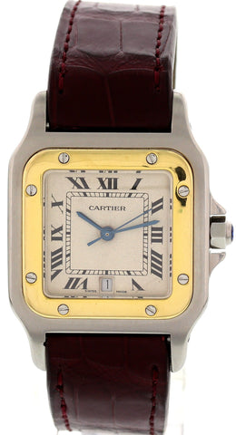 Cartier Santos Stainless Steel and 18K Yellow Gold Date Watch 187901