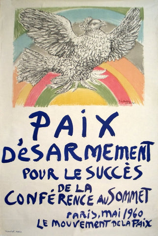 Pablo Picasso (Spanish, 1881-1973), Paix Disarmement-Peace, 1960, lithographic poster