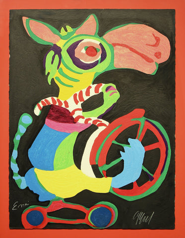Karel Appel (Dutch, 1921-2006), Untitled from Circus Volumes II, 1978, engraving in colors, signed
