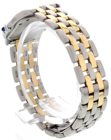 Ladies Cartier Panthere 18K Yellow Gold and Stainless Steel Watch 1057917