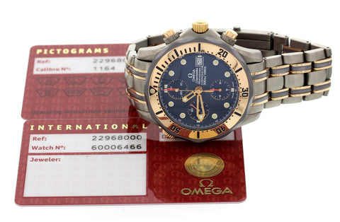 Men's Omega Seamaster Titanium and 18K Rose Gold Chronograph, ref. 22968000